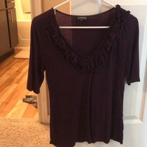 Express maroon colored business/casual shirt